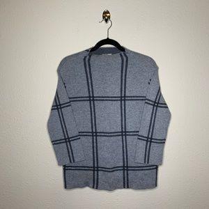 J. Jill Gray Gingham Pullover Sweater